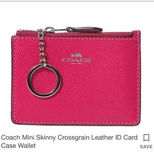 💖 NWOT Coach Mini Leather ID Card Case Wallet 💖